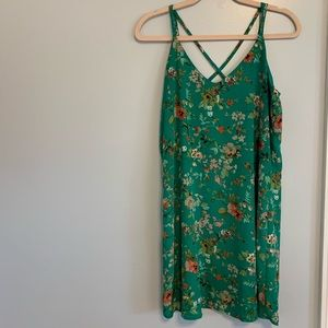 Green Floral Dress- Medium